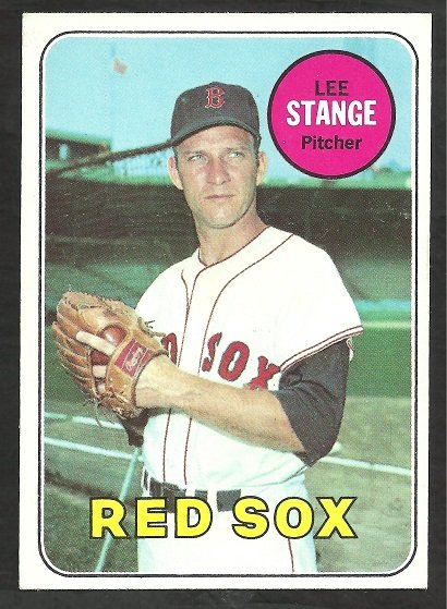 BOSTON RED SOX LEE STANGE 1969 TOPPS # 148 EX/EX MT