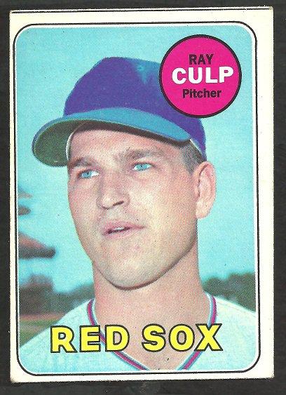 BOSTON RED SOX RAY CULP 1969 TOPPS # 391 EX