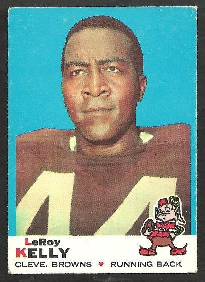 CLEVELAND BROWNS LEROY KELLY 1969 TOPPS # 1 VG