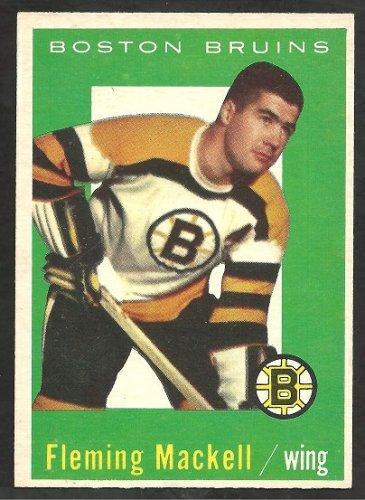 BOSTON BRUINS FLEMING MACKELL 1959/60 TOPPS # 19 NR MT
