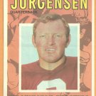 WASHINGTON REDSKINS SONNY JURGENSEN 1971 TOPPS PINUP 17