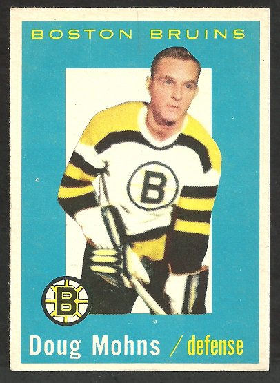 BOSTON BRUINS DOUG MOHNS 59/60 TOPPS # 58 EM