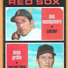 RED SOX ROOKIE STARS BOB MONTGOMERY DOUG GRIFFIN 1971 TOPPS # 176 EX/EM