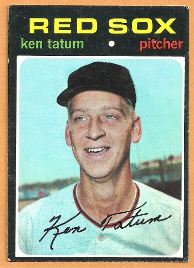 BOSTON RED SOX KEN TATUM 1971 TOPPS # 601 EX