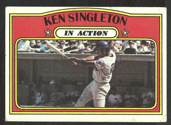 NEW YORK METS KEN SINGLETON I/A 1972 TOPPS # 426 VG+/EX