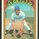 KANSAS CITY ROYALS TED ABERNATHY 1972 TOPPS # 519 VG
