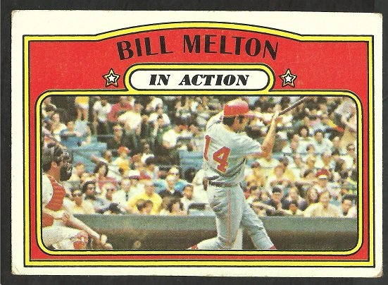 CHICAGO WHITE SOX BILL MELTON I/A 1972 TOPPS # 184 VG/EX