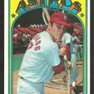 HOUSTON ASTROS JOHNNY EDWARDS 1972 TOPPS # 416 EX/EM