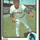 BOSTON RED SOX BOB VEALE 1973 TOPPS # 518 VG