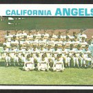 CALIFORNIA ANGELS TEAM CARD 1973 TOPPS # 243 EX SMC