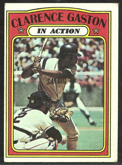 SAN DIEGO PADRES CITO GASTON I/A 1972 TOPPS # 432 VG