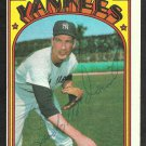 New York Yankees Lindy McDaniel Autographed Signed 1972 Topps Baseball Card # 513