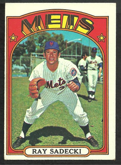 NEW YORK METS RAY SADECKI 1972 TOPPS # 563 VG