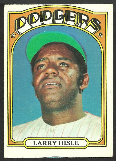 LOS ANGELES DODGERS LARRY HISLE 1972 TOPPS # 398 VG/EX OC