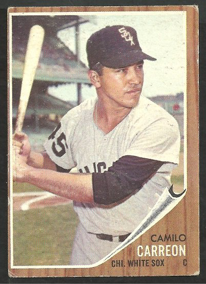 CHICAGO WHITE SOX CAMILO CARREON 1962 TOPPS # 178 VG