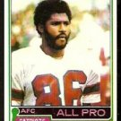 NEW ENGLAND PATRIOTS STANLEY MORGAN ALL PRO 1981 TOPPS # 290 NR MT
