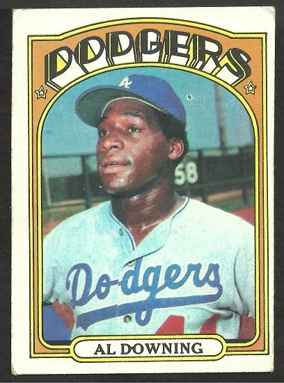 LOS ANGELES DODGERS AL DOWNING 1972 TOPPS # 460 VG/EX OC
