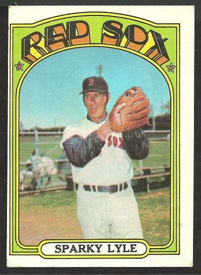 BOSTON RED SOX SPARKY LYLE 1972 TOPPS # 259 VG/EX