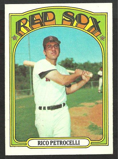 BOSTON RED SOX RICO PETROCELLI 1972 TOPPS # 30 EX/EM