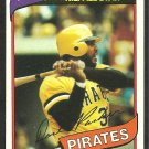 1980 Topps Baseball Card # 310 Pittsburgh Pirates Dave Parker ex mt