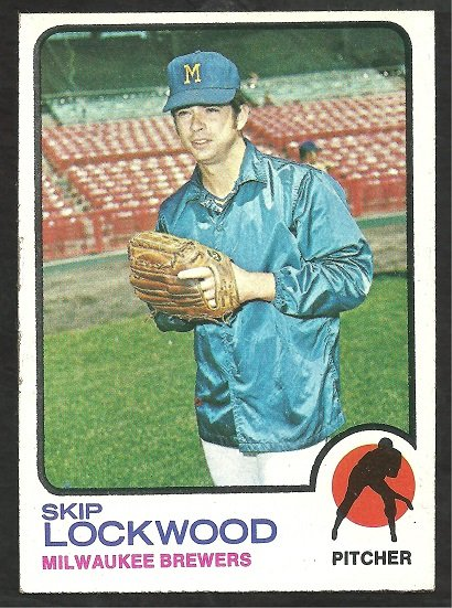 MILWAUKEE BREWERS SKIP LOCKWOOD 1973 TOPPS # 308