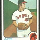 CALIFORNIA ANGELS LLOYD ALLEN 1973 TOPPS # 267 VG+/EX