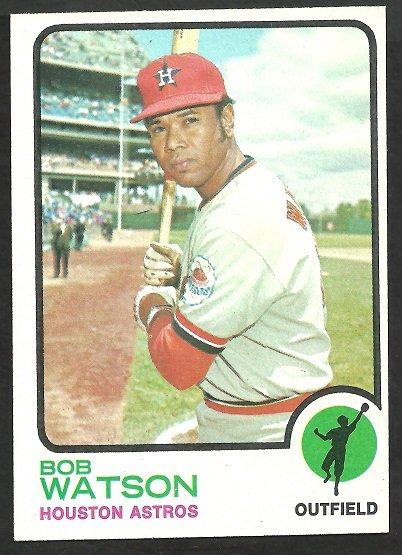HOUSTON ASTROS BOB WATSON 1973 TOPPS # 110