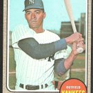 NEW YORK YANKEES BILL ROBINSON 1968 TOPPS # 337 VG/EX
