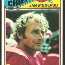 KANSAS CITY CHIEFS JAN STENERUD 1977 TOPPS # 335 VG