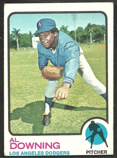 Los Angeles Dodgers Al Downing 1973 Topps # 324 vg