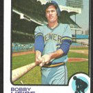 MILWAUKEE BREWERS BOBBY HEISE 1973 TOPPS # 547 EX OC