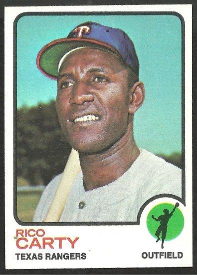 TEXAS RANGERS RICO CARTY 1973 TOPPS # 435