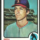 TEXAS RANGERS RICH HINTON 1973 TOPPS # 321 NR MT