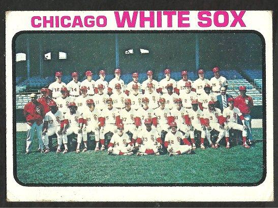 CHICAGO WHITE SOX TEAM CARD 1973 TOPPS # 481 VG OC