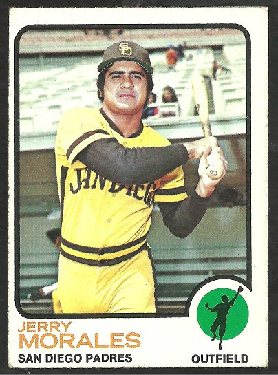 SAN DIEGO PADRES JERRY MORALES 1973 TOPPS # 268 EX SOC