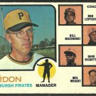 PITTSBURGH PIRATES BILL VIRDON 1973 TOPPS # 517 G+/VG