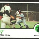 MONTREAL EXPOS BOOTS DAY 1973 TOPPS # 307