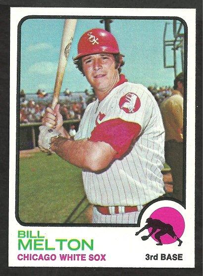 CHICAGO WHITE SOX BILL MELTON 1973 TOPPS # 455 NR MT