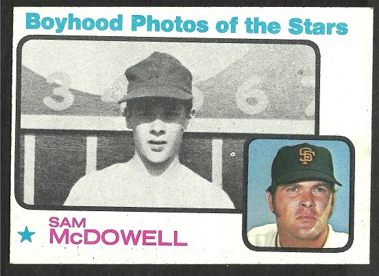 San Francisco Giants Sam McDowell 1973 TOPPS # 342 ex mt