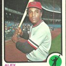 CLEVELAND INDIANS ALEX JOHNSON 1973 TOPPS # 425 VG