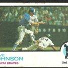 ATLANTA BRAVES DAVE JOHNSON 1973 TOPPS # 550 G