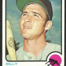 CALIFORNIA ANGELS BILLY GRABARKEWITZ 1973 TOPPS # 301 EX/EX MT