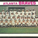 ATLANTA BRAVES TEAM CARD W/ HANK AARON 1973 TOPPS # 521 good