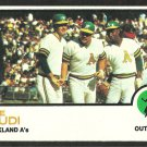 OAKLAND ATHLETICS JOE RUDI 1973 TOPPS # 360 EX/EX MT