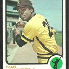 SAN DIEGO PADRES IVAN MURRELL 1973 TOPPS # 409 VG
