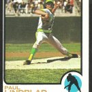 OAKLAND A's ATHLETICS PAUL LINDBLAD 1973 TOPPS # 406 NR MT OC