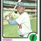LOS ANGELES DODGERS MANNY MOTA 1973 TOPPS # 412 VG