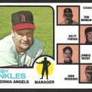 CALIFORNIA ANGELS BOBBY WINKLES 1973 TOPPS # 421 EM/NR MT