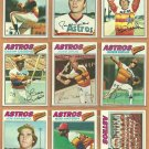1977 Topps Houston Astros Team Lot 25 Jose Cruz Cedeno Andujar RC Niekro Forsch
