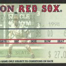 TEXAS RANGERS @ BOSTON RED SOX 1998 TICKET PEDRO MARTINEZ 10 SO NOMAR PHOTO